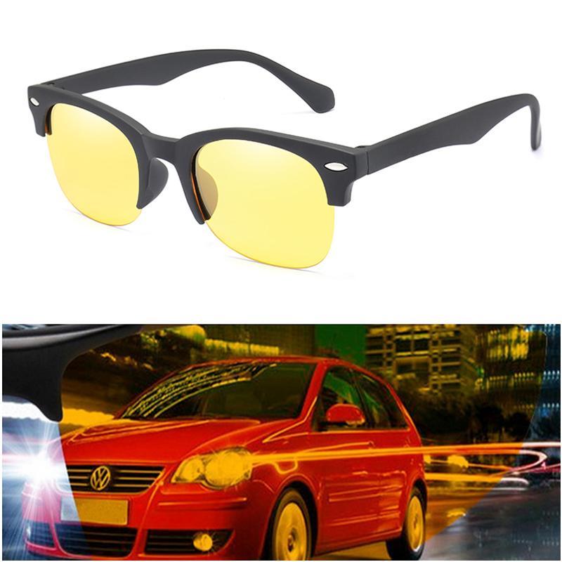 Oval Men's Sunglasses Polarized Sun Glasses Women Night Vision Sunglasses Semi-Rimless Safe Driving Eyeglasses Goggles