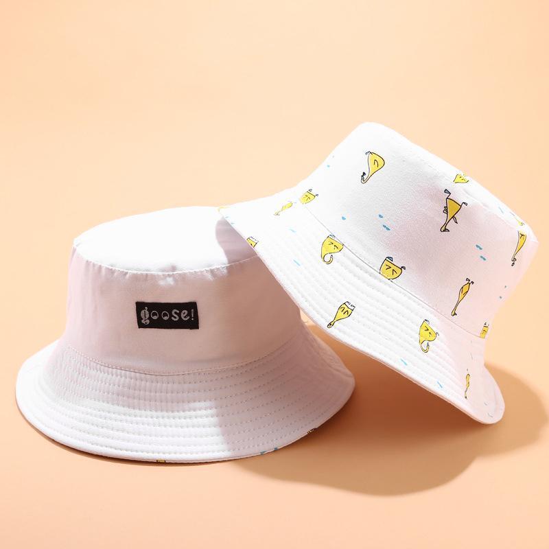2020 nuevo diseñador del sombrero del cubo Bob Cap hombres de las mujeres Sombrero Panamá Bucket Cap unisex de la historieta del algodón de Hip Hop verano sombrero de la pesca de alta calidad