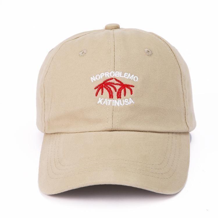 Mode-New Kokosnuss bestickte Baseball-Kappe Männer und Frauen Sommer Art und Weise 100 personadtongue Kappe Trend Sonnenhut