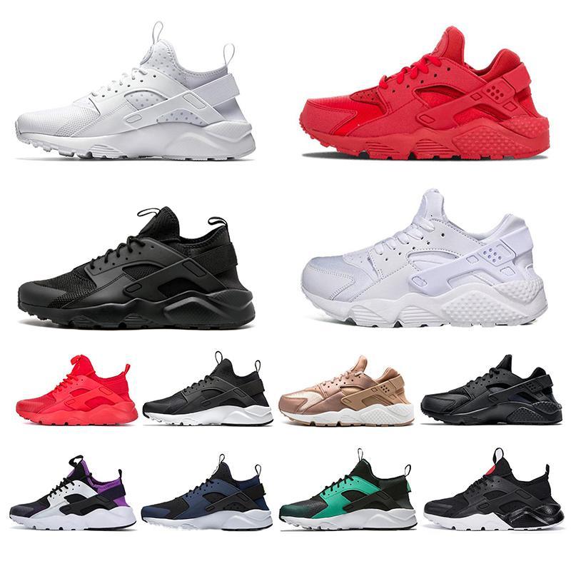 nike air huarache Nefes Huarache 1.0 4.0 Koşu Ayakkabıları aşk nefret paketi Üçlü Beyaz Siyah Kırmızı Mor Donanma Huaraches Kadınlar Erkek Eğitmen Spor Sneakers