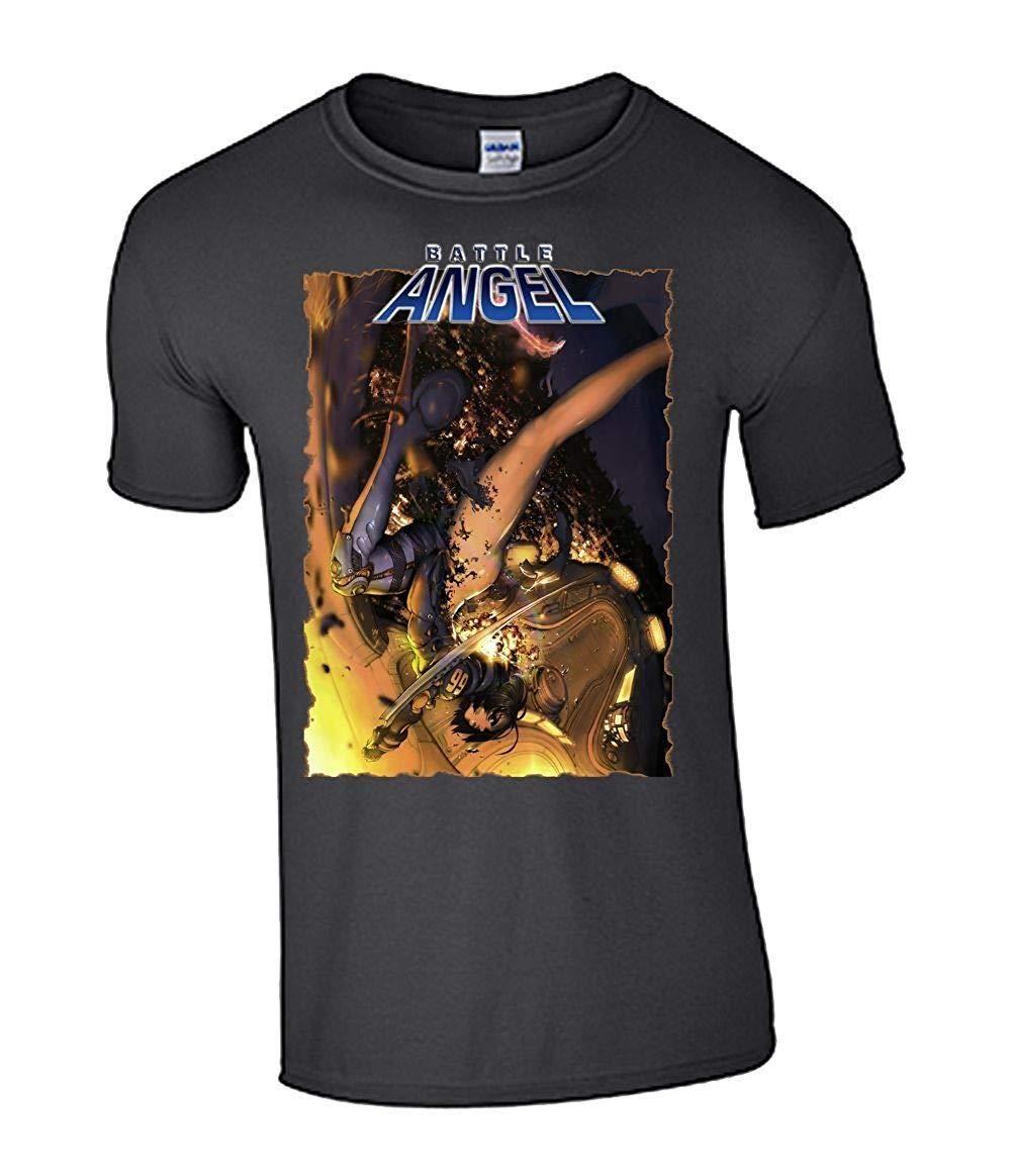 Battle Angel Alita T-shirt unisex Anime 2020 Verão Novo Marca Camiseta Homens Homens de Hip Hop T-shirt Casual Academia Top Tee Plus Size