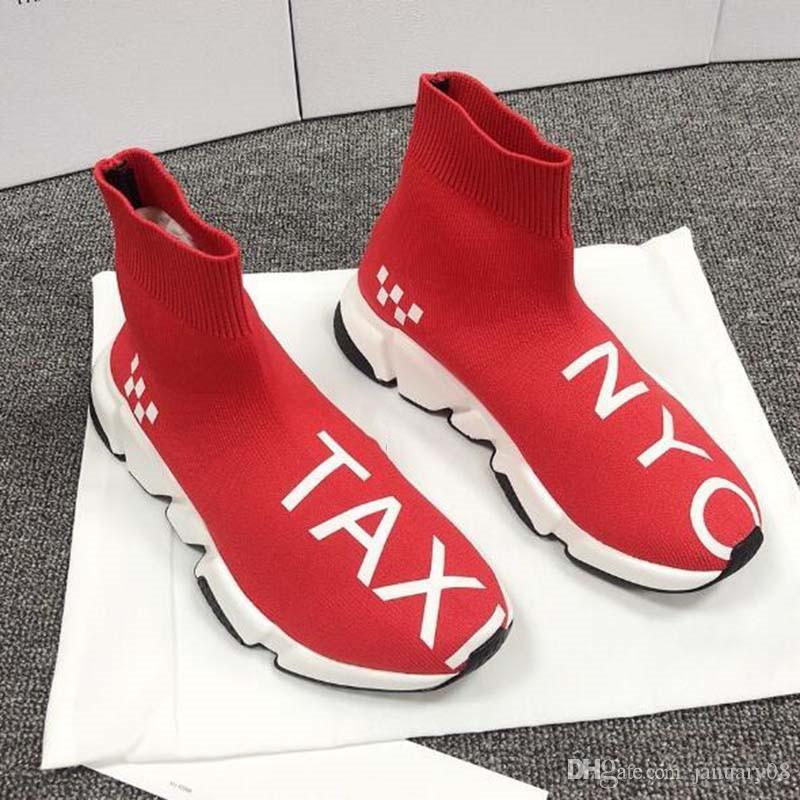 Moda Çorap Ayakkabı Hız Ayakkabı Bayan çizmeler Spor ayakkabı ayakkabı Eğitici ler Çorap yarışı Koşucular siyah Ayakkabı adam kadın ayakkabı Kristal alt S2S