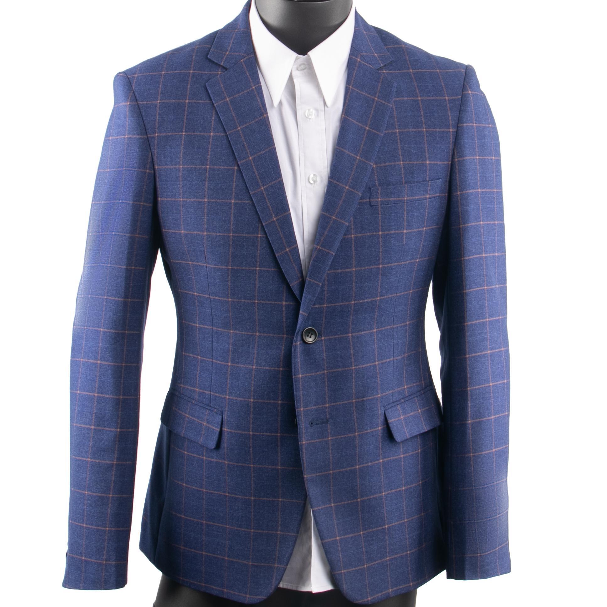 Dark Blue Checkered Anzug Männer Blau karierte Anzug Tailor Made Men Style Checkered Kleid Anzughose, 2019 Mode Kostüm Sure Mesure