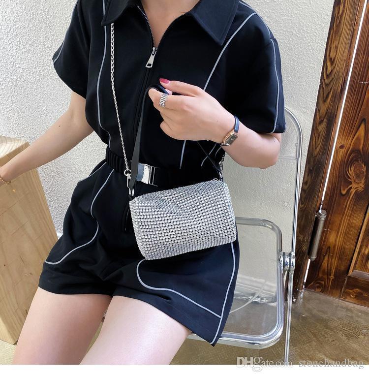Einzelne Mode Handtaschen Frauen Taschen Schulter Diamant Leder Crossbody Luxus Messenger Lässige Neue Tasche PU WQJHG