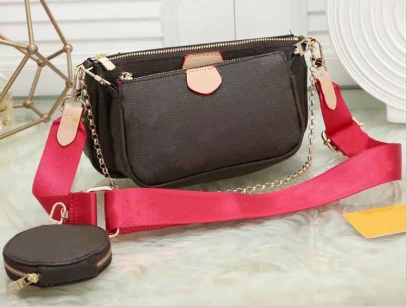 xx2020new préféré sac multi-accessoires en cuir fleur pochette sac à main des femmes épaule crossbody dames sacs à main 3 pièces porte-monnaie
