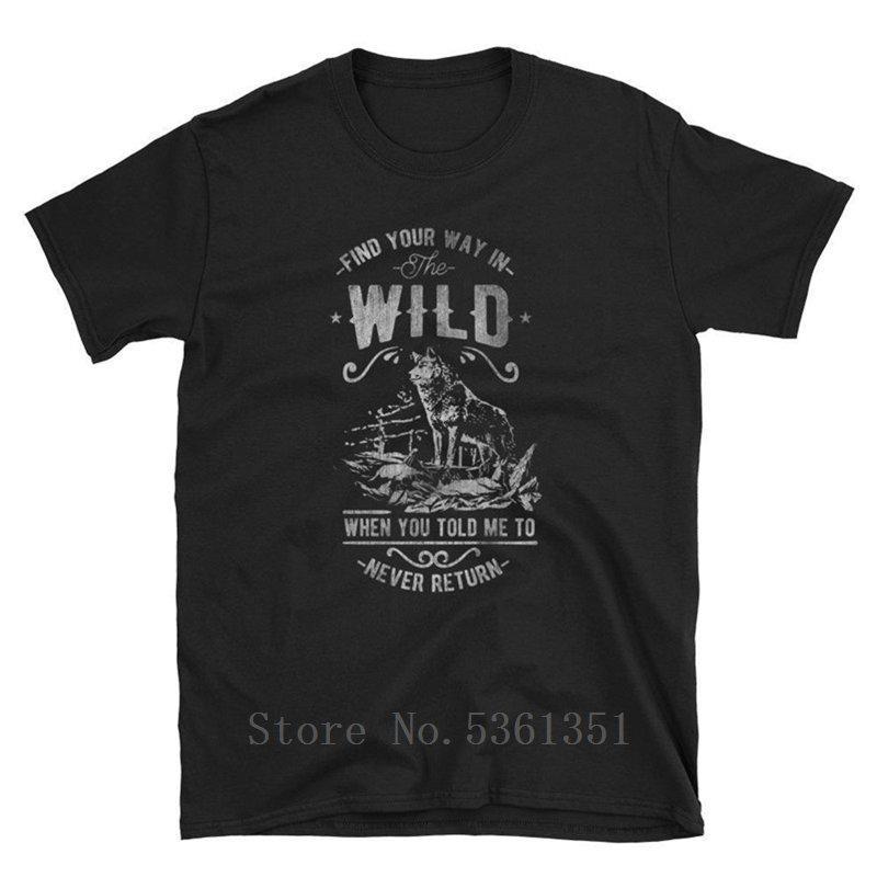 2019 Nuevo hombre de las camisetas Wild Wolf arte inspiró la camiseta animal de los hombres de la vendimia 100% algodón a estrenar Camisetas