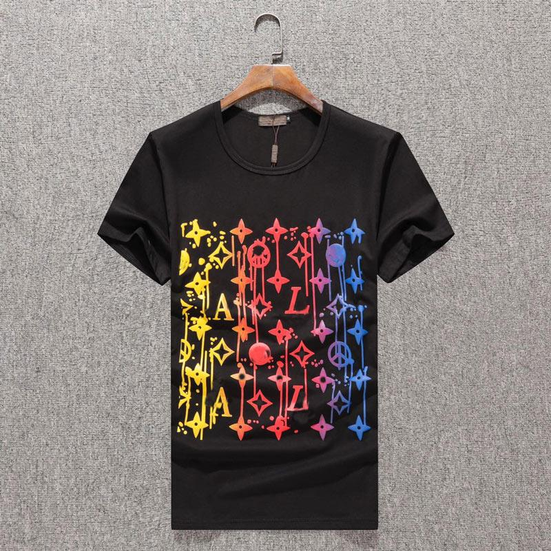 19SS berühmten Herren T-Shirt Polos Qualitäts-Männer Frauen Paare beiläufige kurze Hülsen-Herren Rundhals Stylist Tees 4 Farben J4