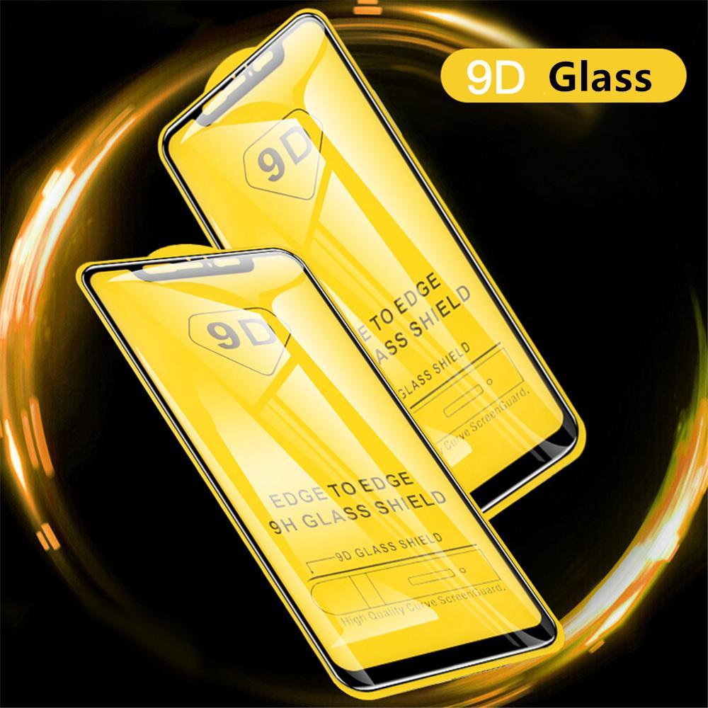 9D vidro temperado Para Xiaomi redmi Nota 9 9S 9Pro Max 8 filme protetor de tela Para redmi 9A 9C NFC X10 Lite 8 8A 8 K30 Pro vidro de proteção