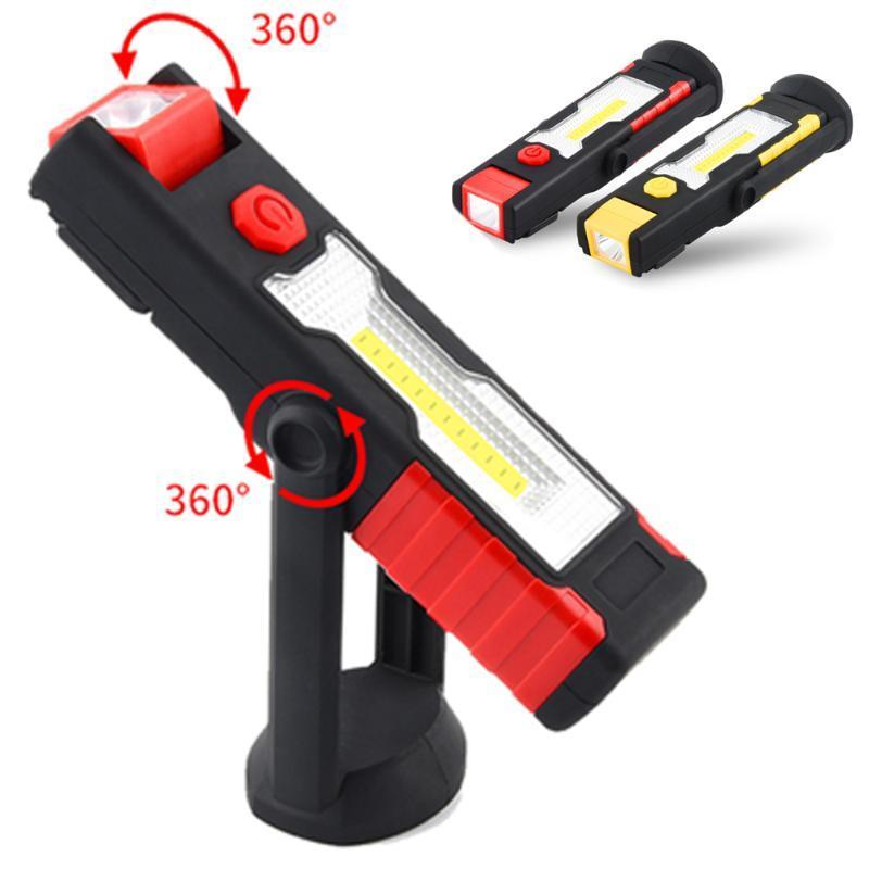 Linternas portátiles 200lm COB Handheld Torch 360 ° Bombilla Luz de escritorio Light Lectura 18650 Camping Tienda Linterna 2mode