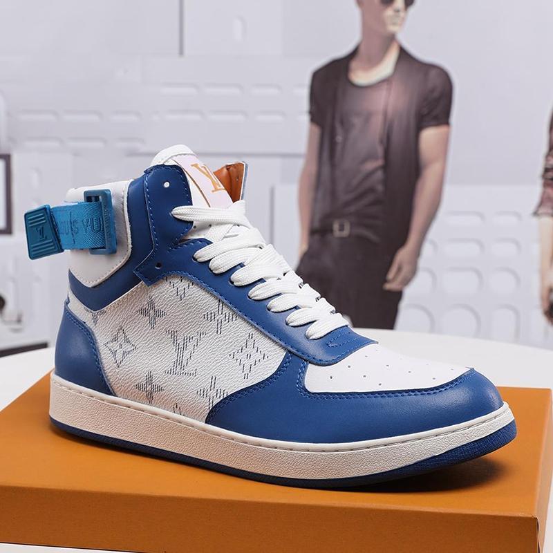 Neue Ankunfts-Herren-Schuhe Boots Fashion Sneakers Rivoli Sneaker Stiefel schnüren -Bis Leder-große Größe beiläufige Schuhe der Männer Luxuxart Chaussures Hommes