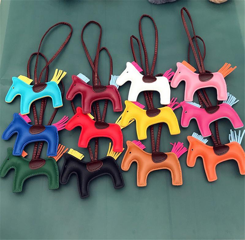 Свободный DHL Симпатичные кисточкой Пони брелок кожаная сумка Подвеска брелок Творческий моды подарков Key Chain автомобилей