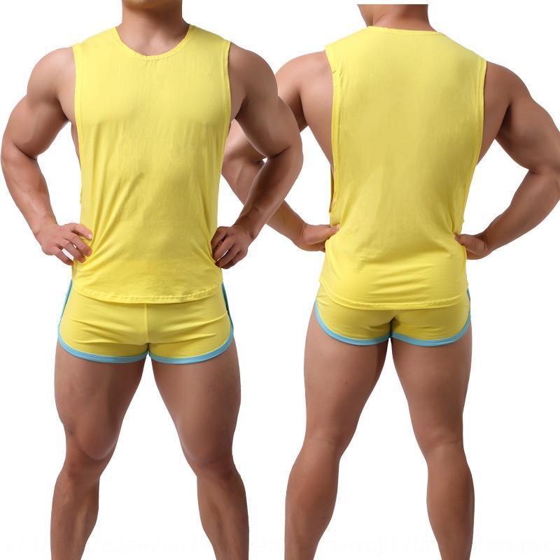 colete sexy camisa de algodão Top suor absorvente respirável camisa Vest grande top manguito homens e mulheres