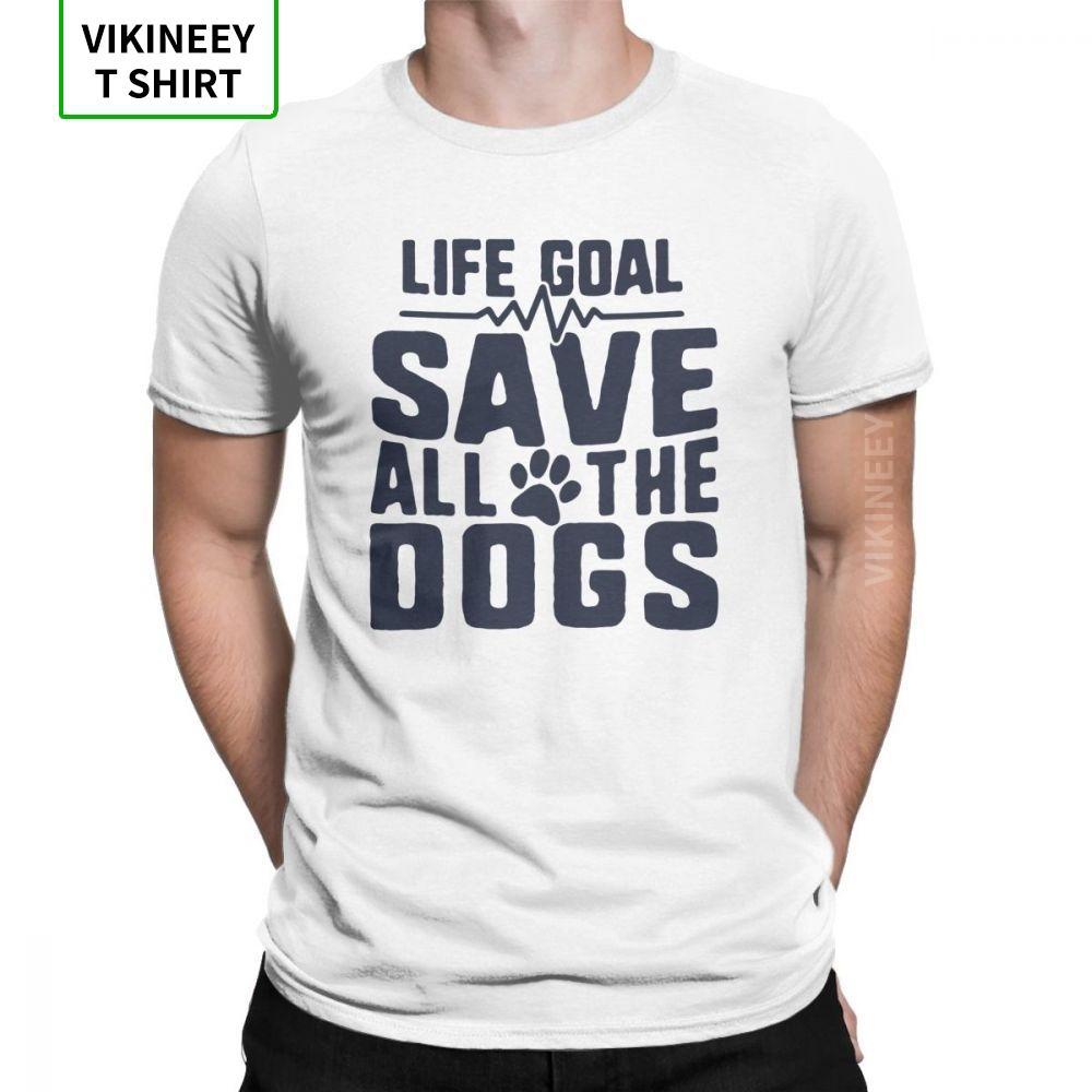 T-shirt La vie des hommes But Enregistrer tous les chiens amant Puppy 100% Cott @ Le Fur amour Pet T-shirts Tops Taille drôle plus T-shirts manches courtes