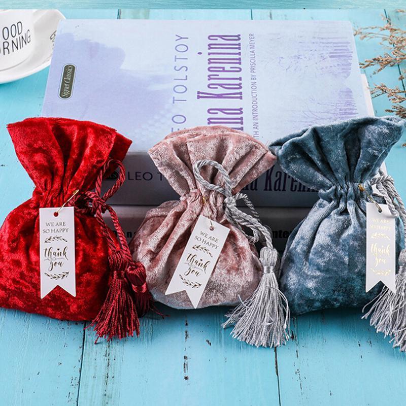 Candy European 10 pz Box Box Box Pocket Velvet Bag Regalo Forniture da sposa Borsa mista Borsa a mano Regalo Regalo Bundle Bundle Creative Cithk