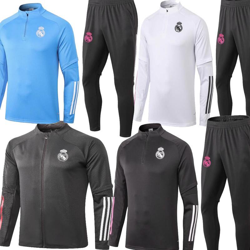 2021 Применимо к Реал Мадрид Hazard Полная застежка -молния футбола разминки куртка Tracksuits Ramos Модрич Открытый спортивный тренировочный костюм куртки 20 21