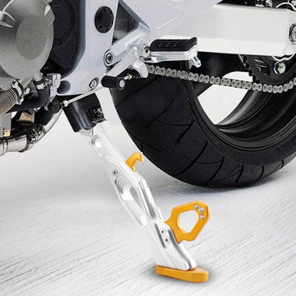 Ajustable CNC aleación de aluminio de la motocicleta de la bici del hoyo pata de cabra Side Kick Soporte Soporte sFLF #