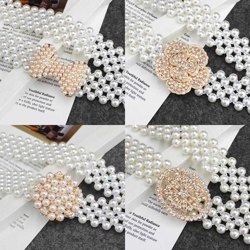 Chaîne ceinture automatique buckleswomen ceinture de perles design 70 cm ceintures femmes cinturones mode de diseño ceintures de créateurs