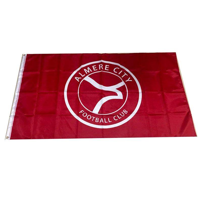 Нидерланды Алмере Сити Флаг 3x5ft 150x90cm 100D полиэстер спортивная команда клуба Открытый Висячие Free Fast Shipping