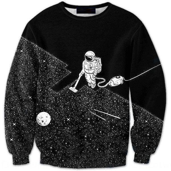 QZRIh Sky gedruckt Starry Männer Pullover lange 3D Pullover Pullover Hülse Pullover trendy Astronauten Männer -0048