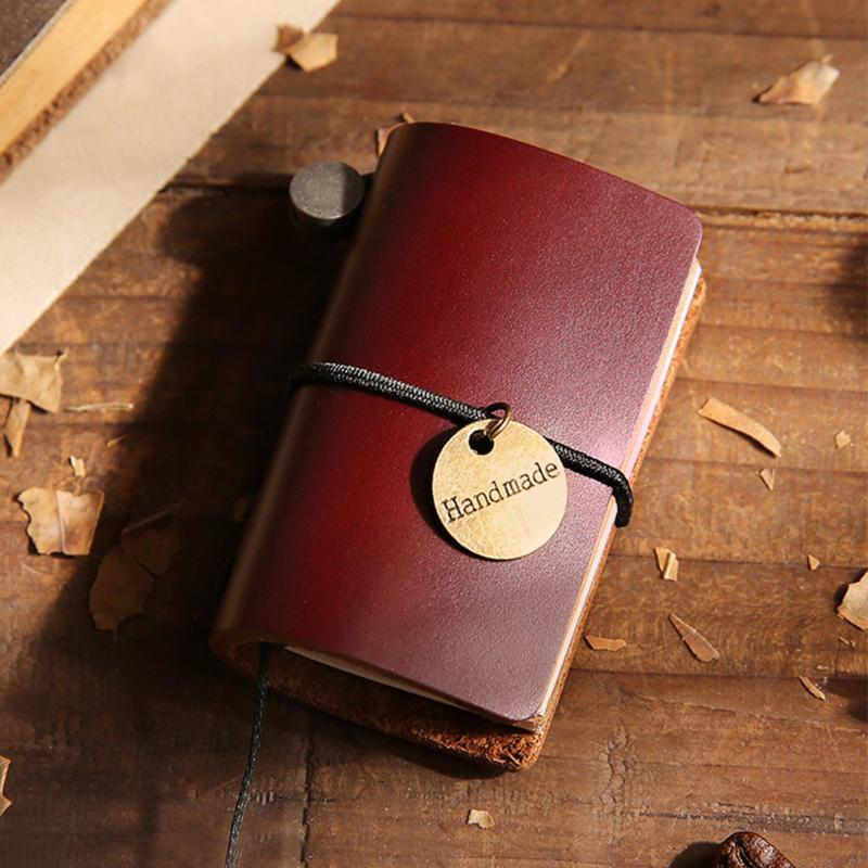 Bandage Mini Daily Memo Vintage Diary Notebook School Supply Portable Cowhide Cover Retro Journey Traveler Notepad
