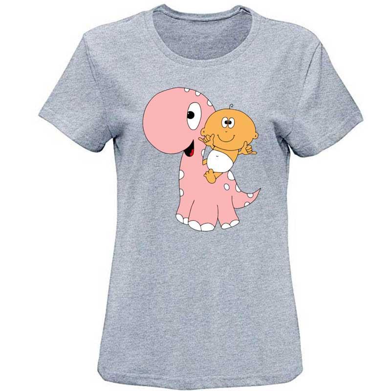 Bebê a Dino Camiseta Slim Fit Homens T-shirt personalizado 2020 camisetas Streetwear para altos Homens Hiphop
