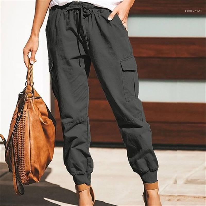 Pantolon Bayan Harem Pantolon Hip Hop Katı Renk Gevşek Kadın Kalem Pantolon Gündelik Stretch Bayan Uzun