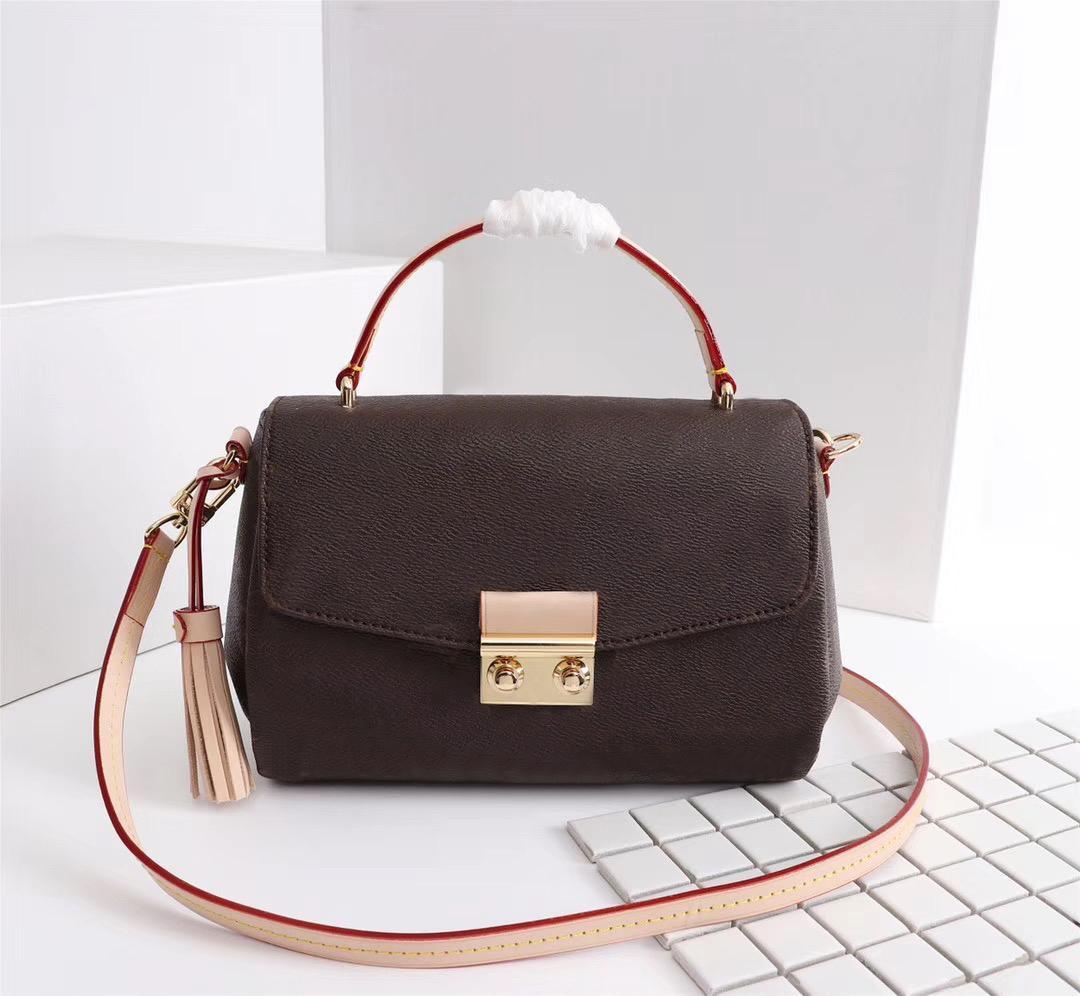الأصلية عالية الجودة مصمم أزياء فاخرة حقائب المحافظ كروازيت حقيبة المرأة العلامة التجارية نمط كلاسيكي جلد طبيعي حقائب الكتف
