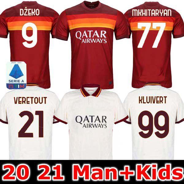 أعلى جودة تايلند 2020 2021 TOTTI DE ROSSI AS ROMA دزيكو لكرة القدم بالقميص 20 21 كولاروف كلويفرت لكرة القدم لكرة القدم قمصان الرجال الاطفال مجموعات مجموعات