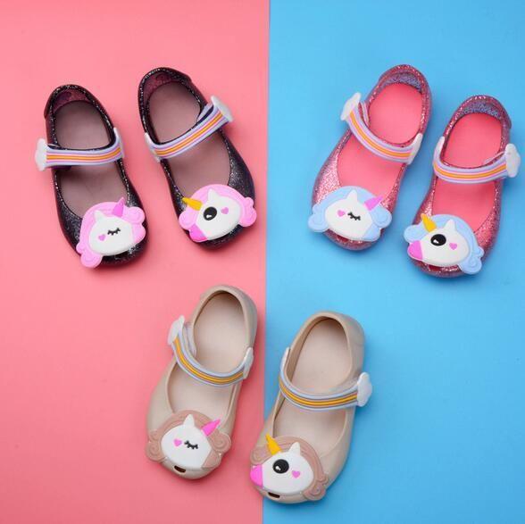 2020 봄 새로운 여자 '샌들 도매 무역 어린이 신발 미니 멜리사 젤리 신발 여성