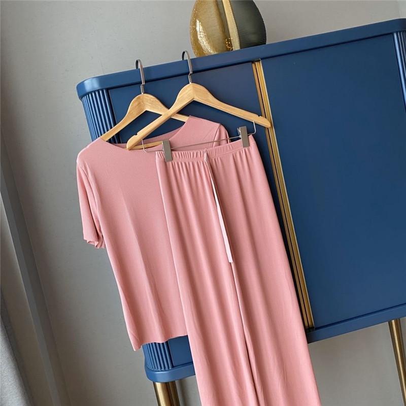 hEvMy е 2020 Летней сестра Сяогана Новый мягкой одежда одежда домашнего костюм одежда прохладного льда меблировка комфортного дом износ два частей костюма
