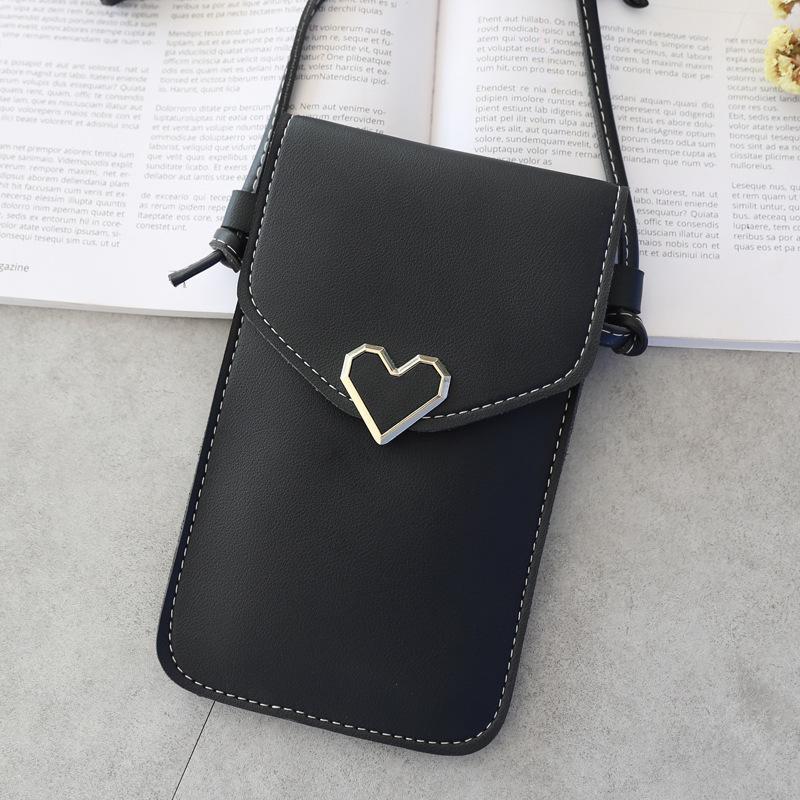 Evrensel Deri Cep Telefonu Çantası Omuz Cep Cüzdan Kılıfı Kılıfı Boyun Askı Telefon Çantası Samsung S10 için Telefonlar için