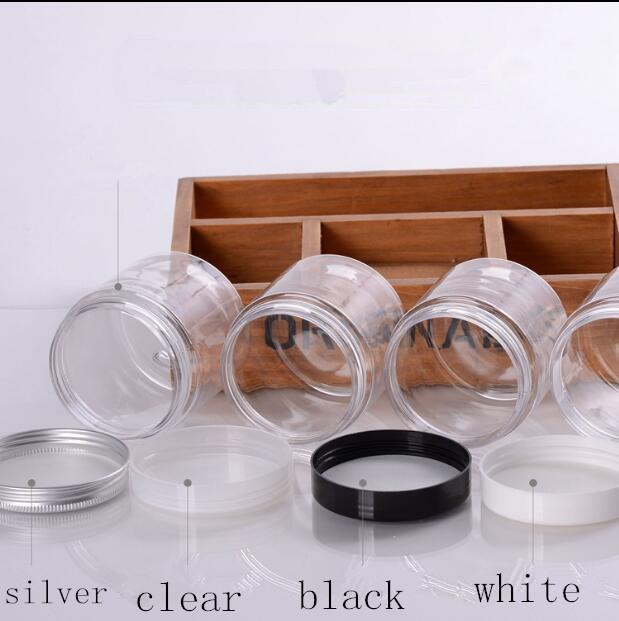 200ml Temizle Lucency Plastik Boş Kavanoz Şişe Originales Doldurulabilir Kozmetik Cream kavanozlar Banyo Tuzu bal Ambalaj kavanoz