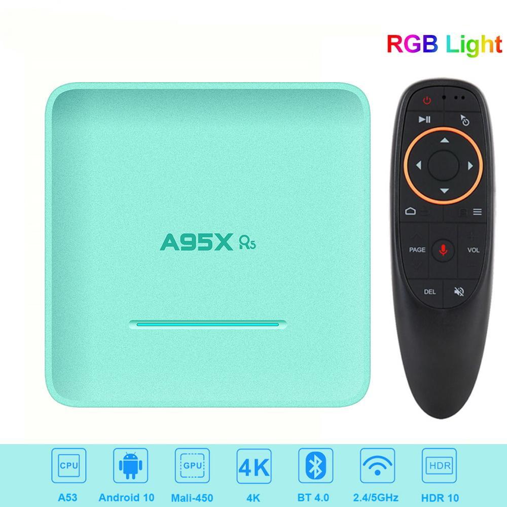A95X R5 Smart TV Box Android TV Box 10.0 4GB 32GB Rockchip RK3318 4K HD 1080P Google tienda Set Top Box