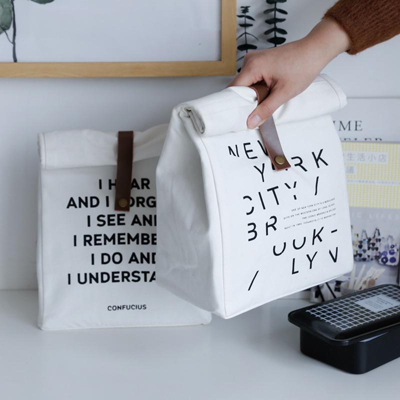 Baffect a prueba de agua con aislamiento almuerzo bolsas de algodón bolsa de mano almacenaje del recorrido de la comida campestre bolsa unisex de la caja térmica Caso Cena