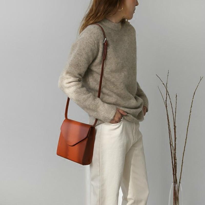 Женская Luxury Vintage закрылки Brief сумки посыльного Ins Noble Pu кожа Малый мешок плечо ретро Малые площади Crossbody сумка # 50