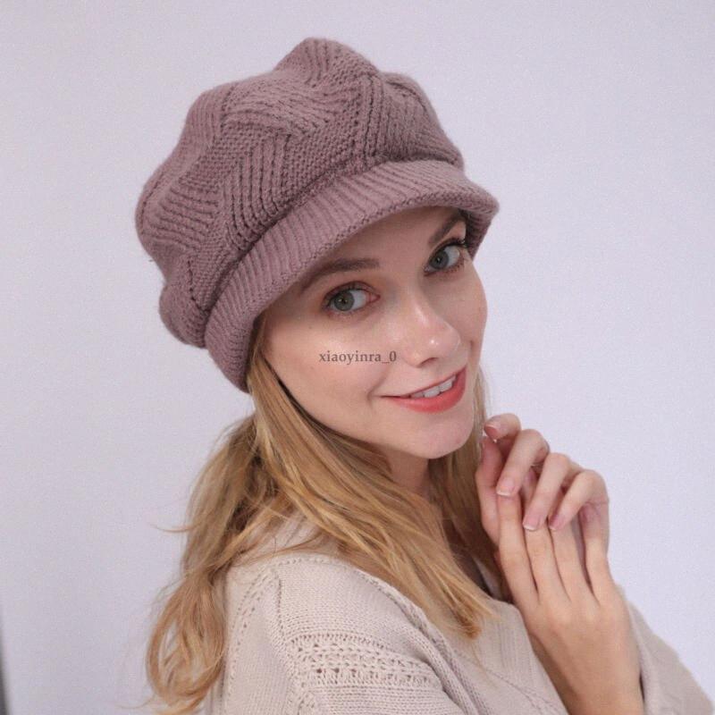 Женщины Лето Весна Зима вязание крючком вязать громоздкая шапочки Берет Cap Slouch Ski Hat 2019 Новая мода 57Uo #