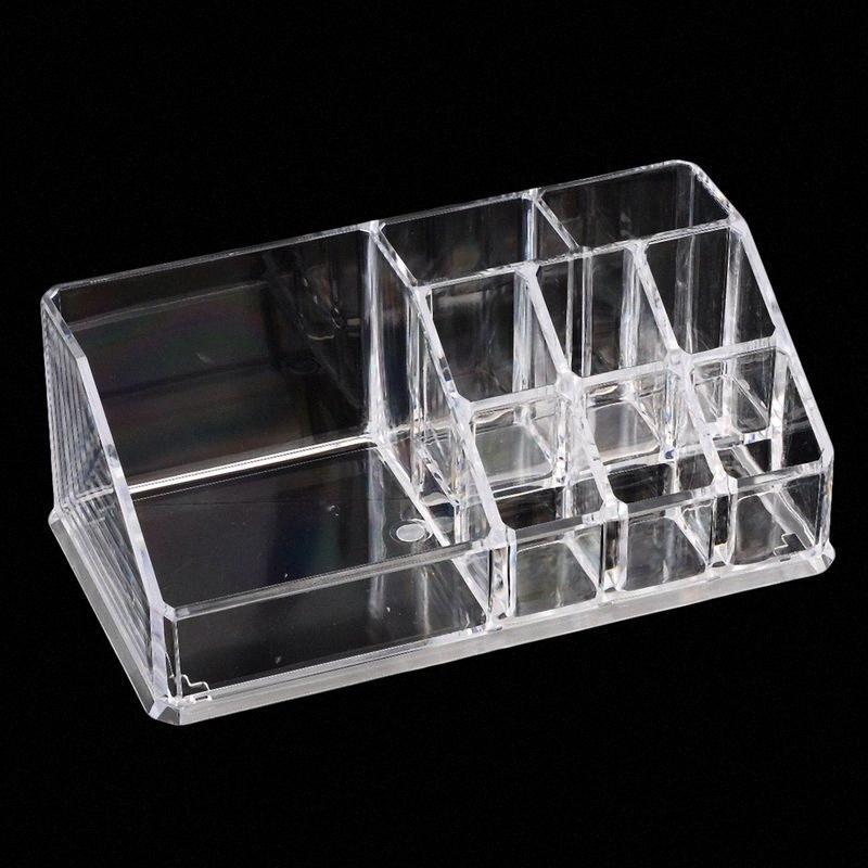 Прозрачный Cosmetic хранения Организатор макияжа Дисплей Box Помада Держатель 17x9.4x6.7 см-1 LpGn #