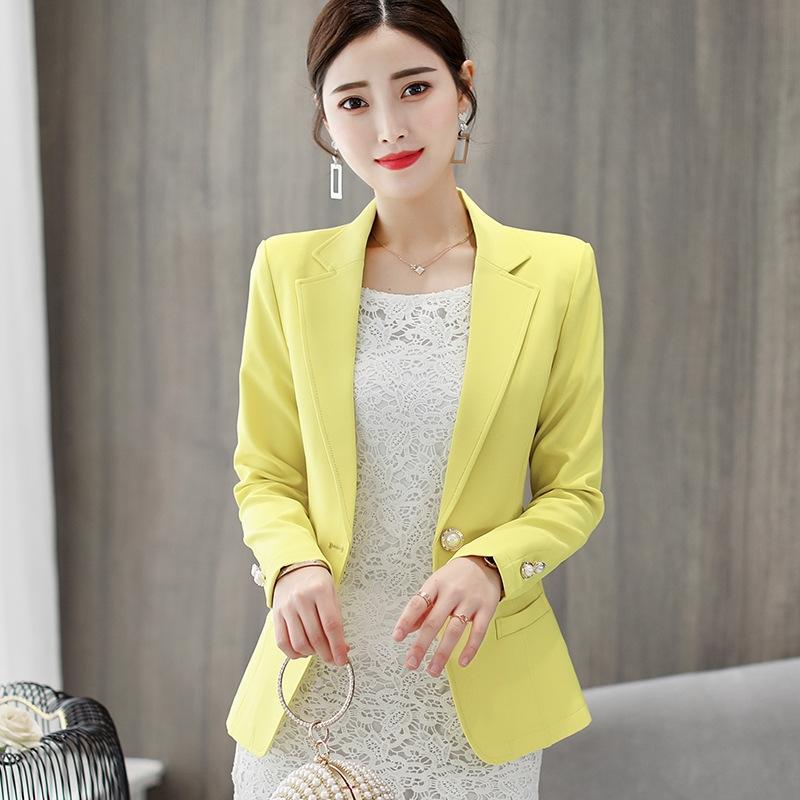 Caidaifei 2020 verano nuevo estilo de Corea del gran tamaño de la capa del juego de las mujeres para adelgazar coatcoat color sólido todo-fósforo ocasional de juego pequeño