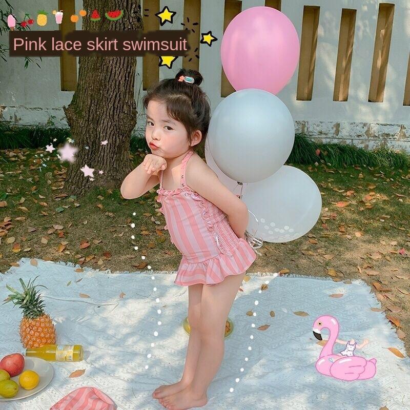 Kore dantel ins İnternet ünlü yüzmek kızın mayo çocuk mayo kızın yeni dantel tulum