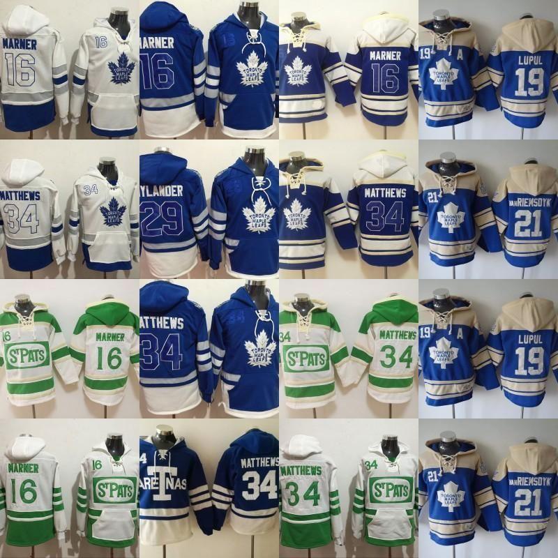 Toronto Maple Leafs Hoodies Jersey 16 Mitchell Marner 19 Juffrey Lupul 21 James Van Riemsdyk 29 William Nylander 34 Auston Matthews jerseys