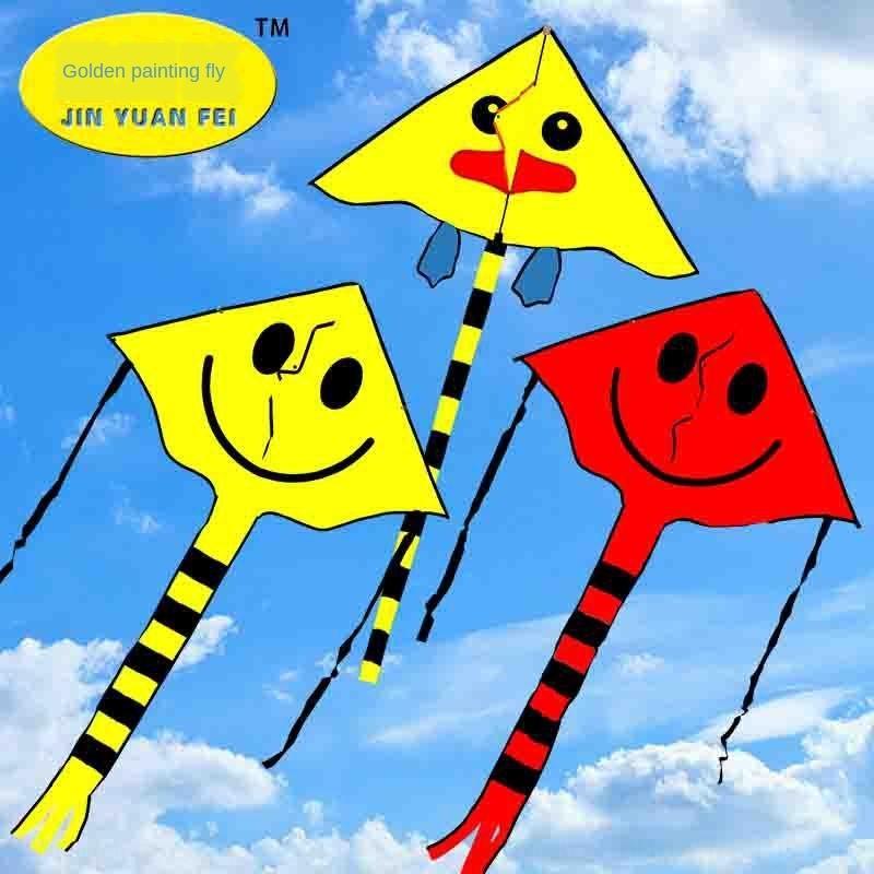 Yüz karikatür uçurtma çocuk karikatür uçurtma gülen yüz kaliteli çocuk hediye üçgeni Gülen