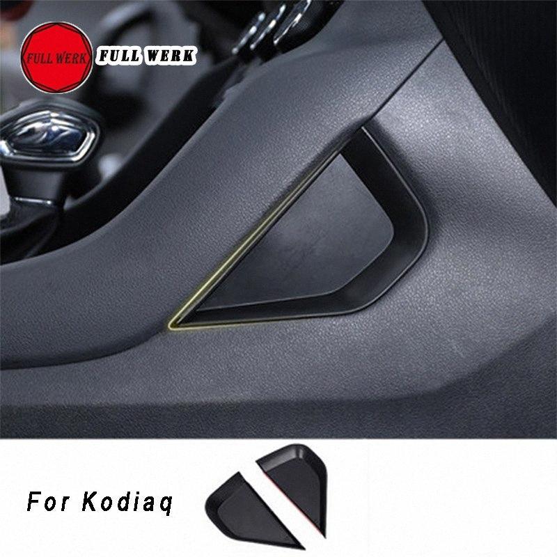 1 paire Car Styling Central Console Boîte de rangement Joint pour Kodiaq Partition Koraq Décoration Accessoires fVj7 #