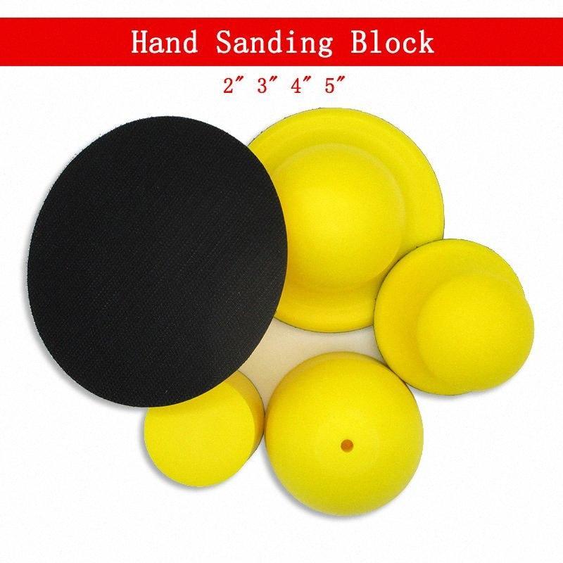 """Handschleifblock 2 """"/ 3"""" / 4 """"/ 5"""" für Klettschleifscheiben-Schaum-Hand Pad Polierscheibe Schleifwerkzeuge OqCc #"""
