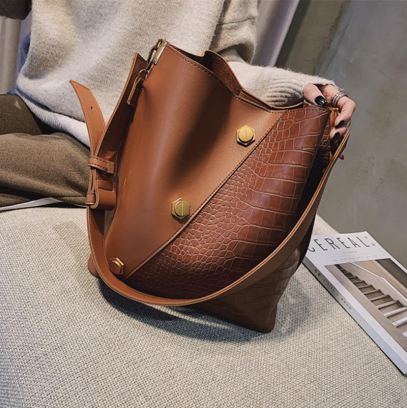 Damenhandtasche New Fashion Bag Einfache großen Kapazitäts-Wannen-Beutel-einzelne Schulter Messenger Bag Womens Cross Body