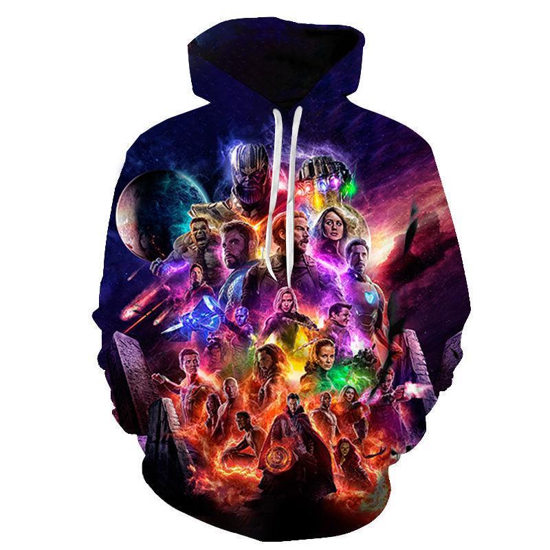 Мстители 4 Endgame Толстовка Толстовка 3D толстовки куртка с капюшоном костюм Мужчины Женщины Толстовка Marvel Superhero Толстовка пуловер