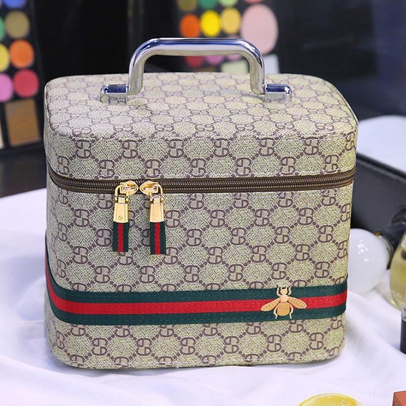 rMOtl sac boîte de rangement boîte de rangement multi-fonctionnel bagages valise valise bagages à plusieurs couches de femmes extra large grande capacité maquillage