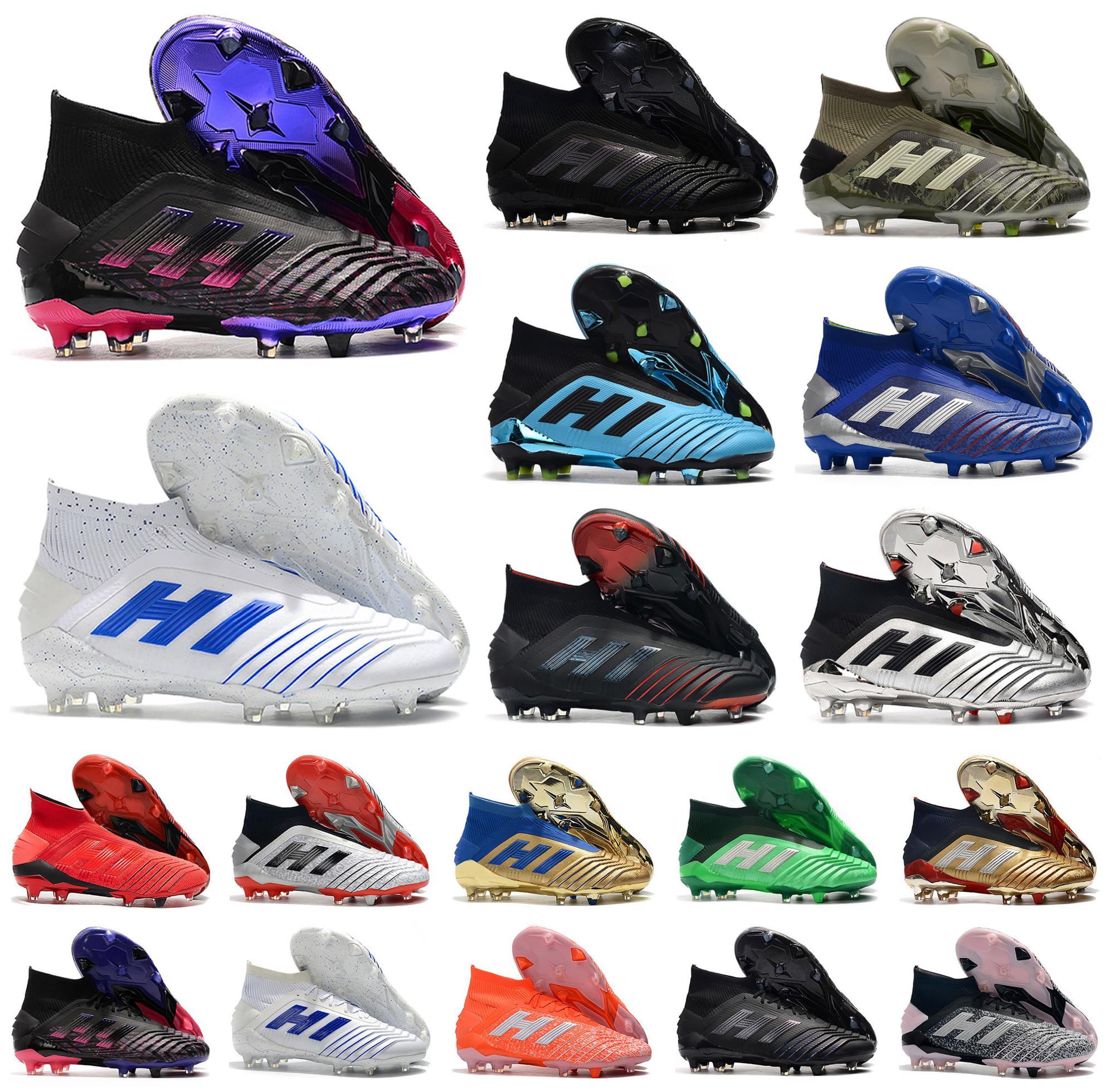 2020 Hot Predator 19+ 19,1 FG PP Paul Pogba Staffel 6 Verschlüsselungs-Code Mens-Jungen-Fußball Schuhe 19 + x Klampen Boot Günstige Größe 39-45