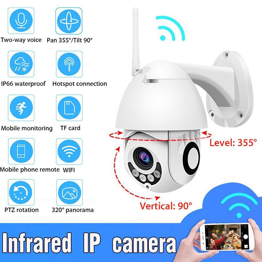 WIFI camera surveillance 2 million wireless dome camera 1080P network surveillance camera card ON head wifi card wholesale