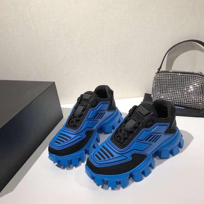 tecido Mens Cloudbust Trovão Sneakers Mulheres Knit Plataforma Low Top Luz sola de borracha 3D Trainers Correndo sapatos tamanho grande com caixa