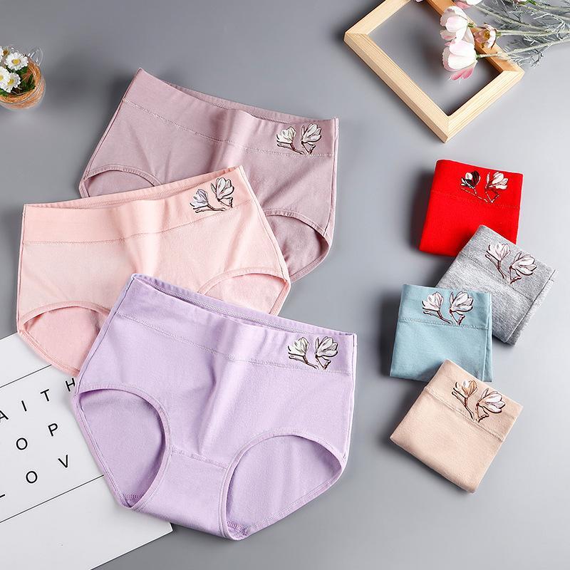 Nueva gran tamaño de algodón mediados de cintura de los pantalones damas en relieve menstruales transpirable calzoncillos ropa interior suave de la ropa interior caliente de la venta